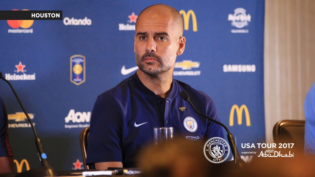 Guardiola conferencia de imprensa em Houston