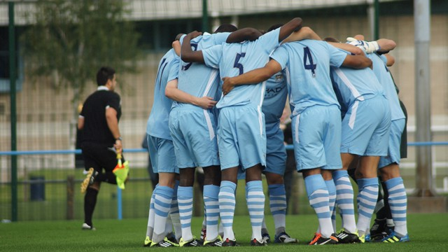under 18s group hug shot
