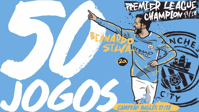 50 jogos com as cores do City