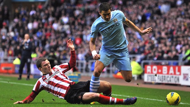 Kolarov in action sunderland