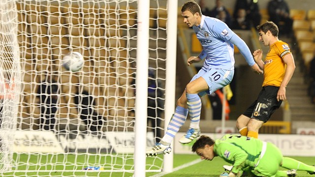 Dzeko Scores Citys 5th