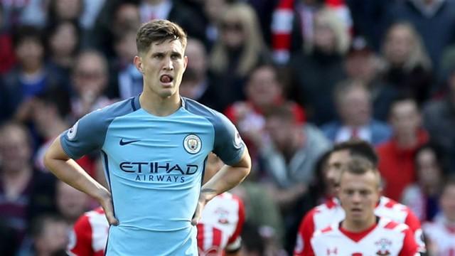 Stones reacts to Southampton's goal