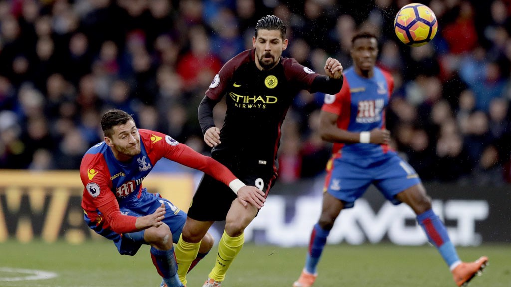 COMPETE - Nolito competes for the ball