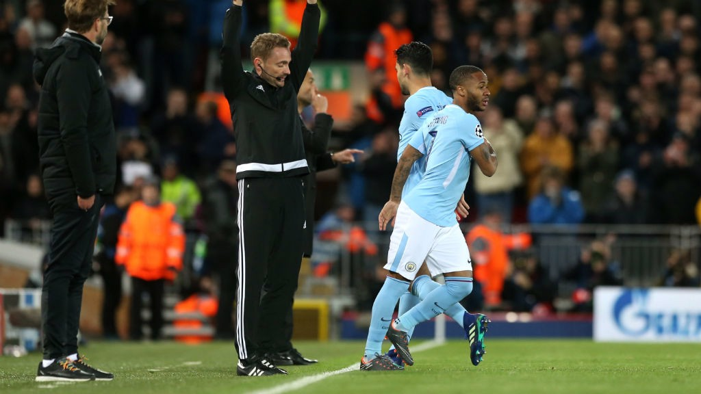 SUBSTITUTION: Ilkay Gundogan makes way for Raheem Sterling.
