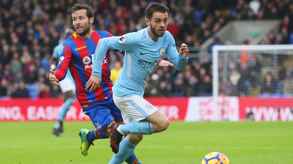 SEARCHING SILVA: Bernardo looks to find a breakthrough at Selhurst Park.