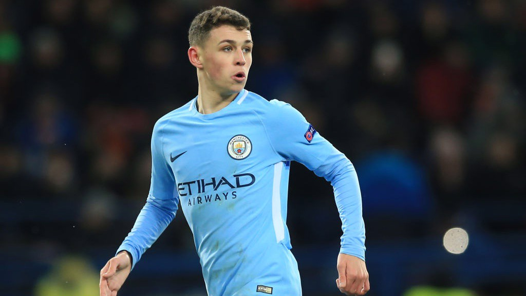 IN ACTION: Phil Foden looks on.
