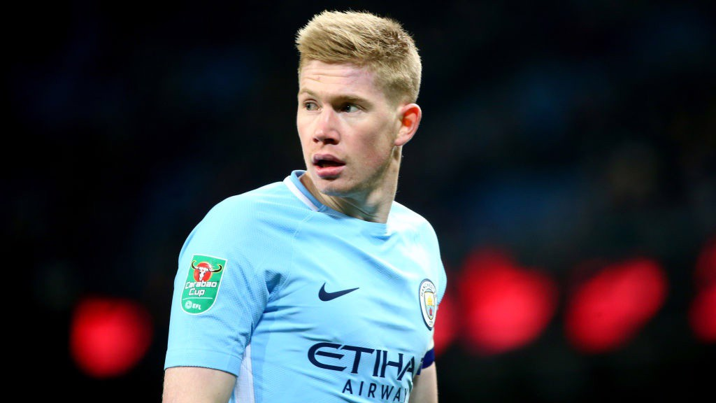 LEADER: Captain Kevin De Bruyne patrols the midfield.