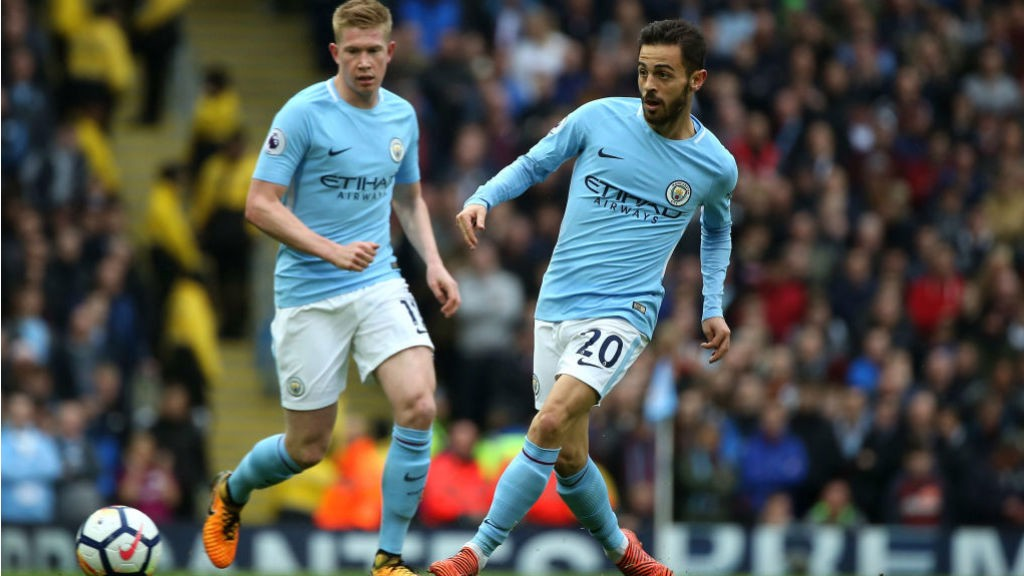 SOLID SILVA: Bernardo Silva looks to open up the Burnley defence