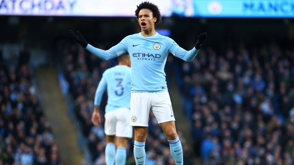 RALLYING: Leroy Sané asks for a big second-half performance from the Blues.