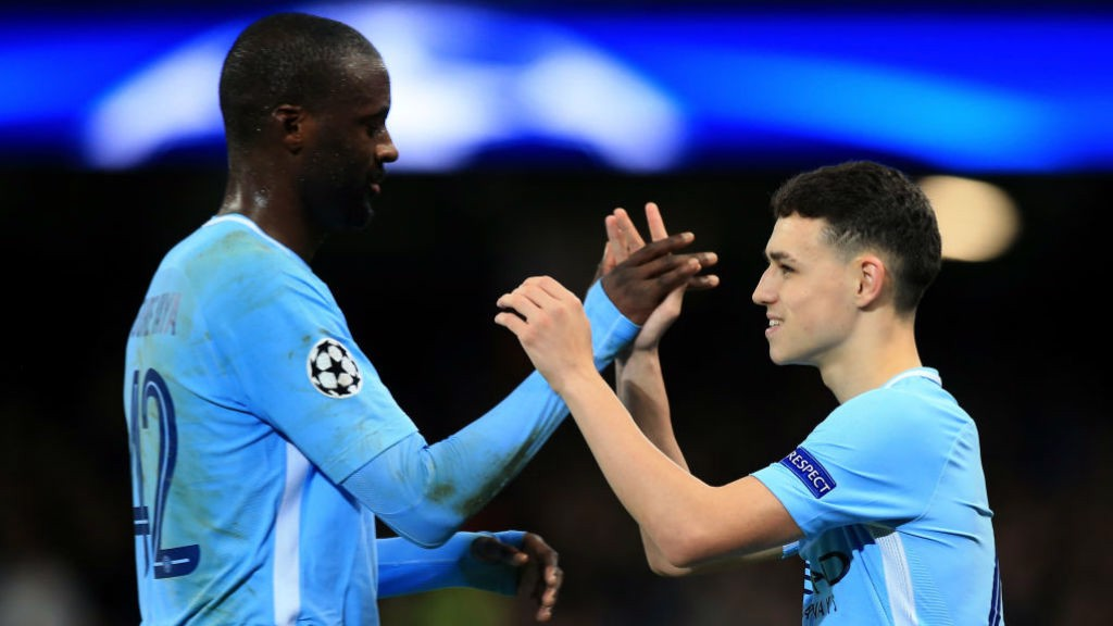 EURO DELIGHT: Foden became the youngest player in City's history to play in the Champions League
