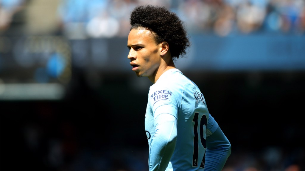 SUPER SANE: Leroy Sane assesses the situation