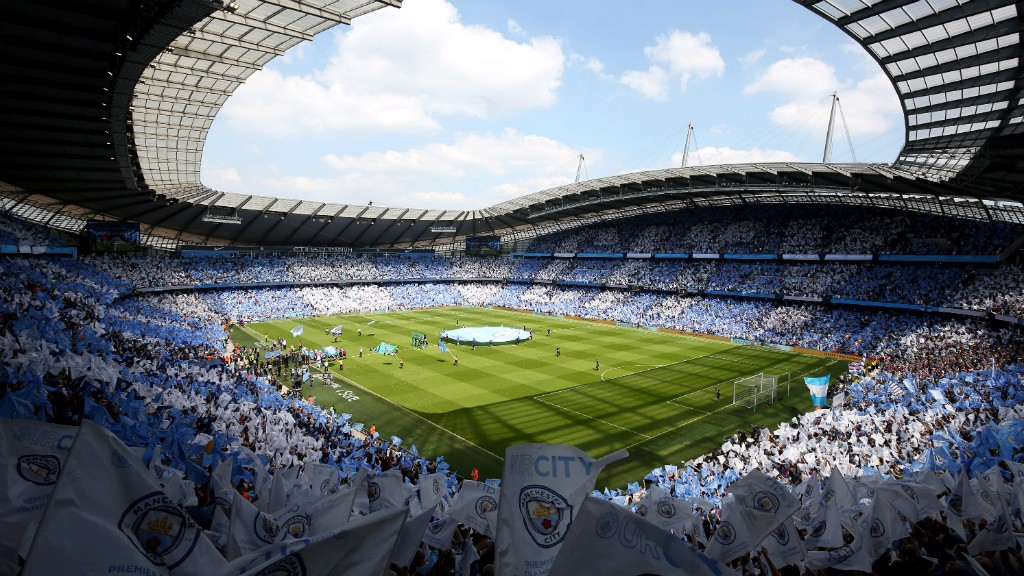 HOME, SWEET HOME: The Etihad Stadium - a sea of blue and white