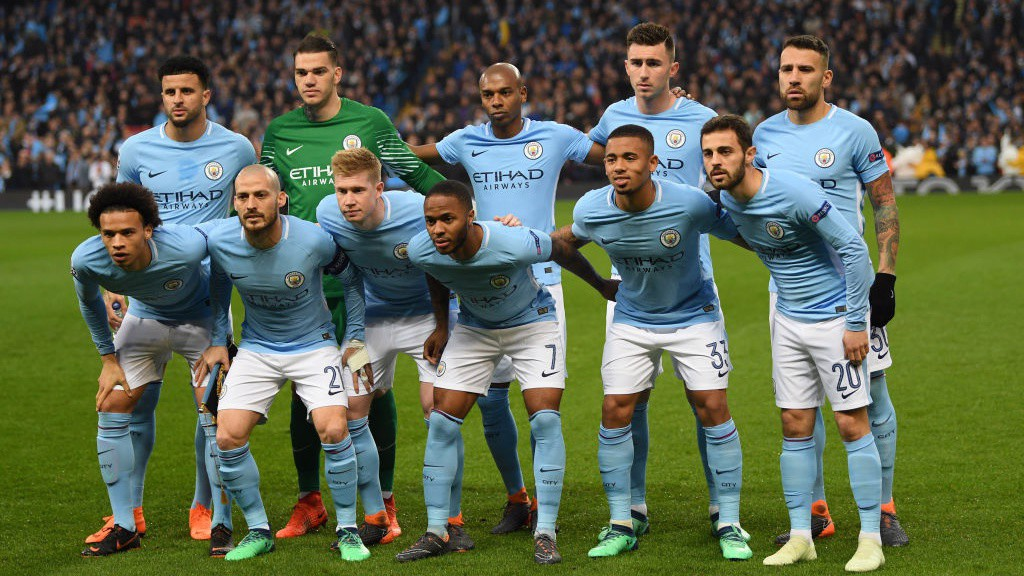 FORWARD THINKING: Pep Guardiola picked an attacking starting eleven.