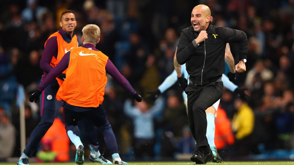 DELIGHT: Look how much that late winner meant to the boss!