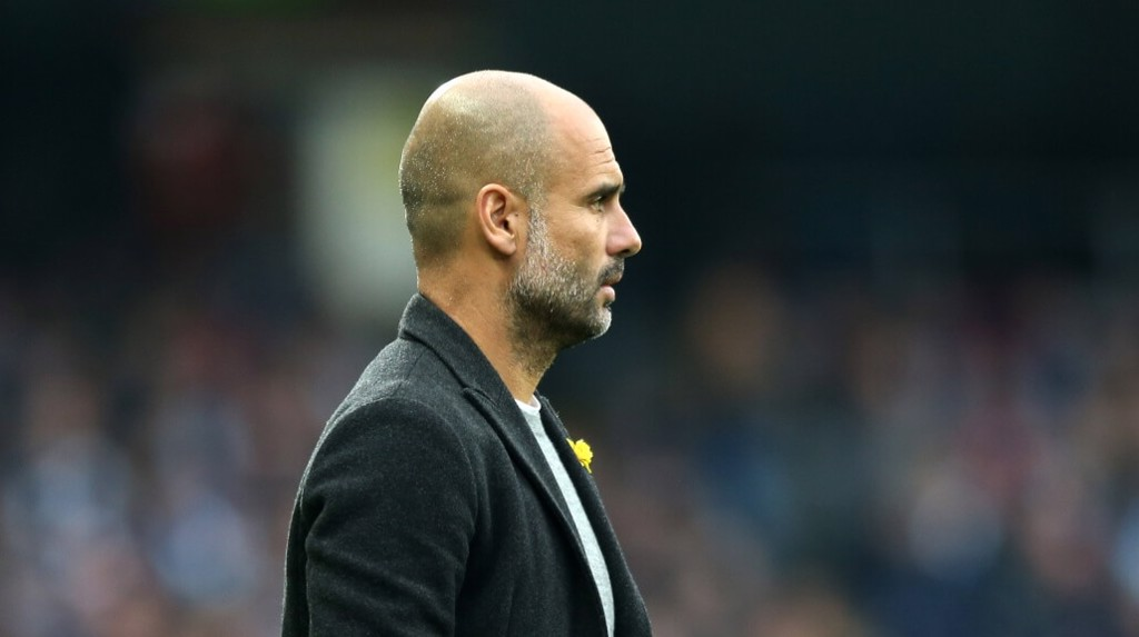 PEP WATCH: The manager observes from the touchline.