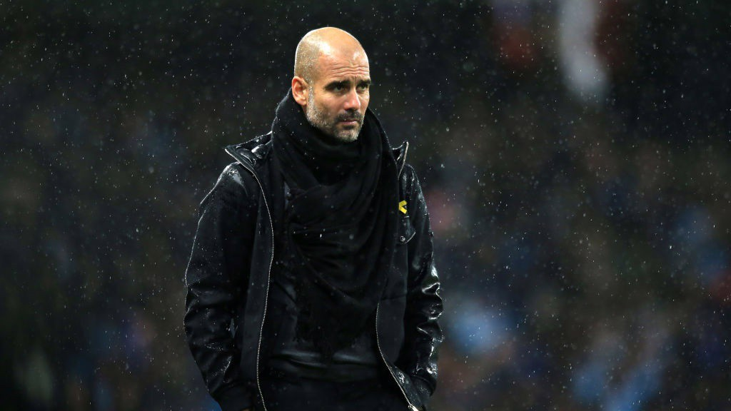 MASTERMIND: Pep watches on from the touchline.