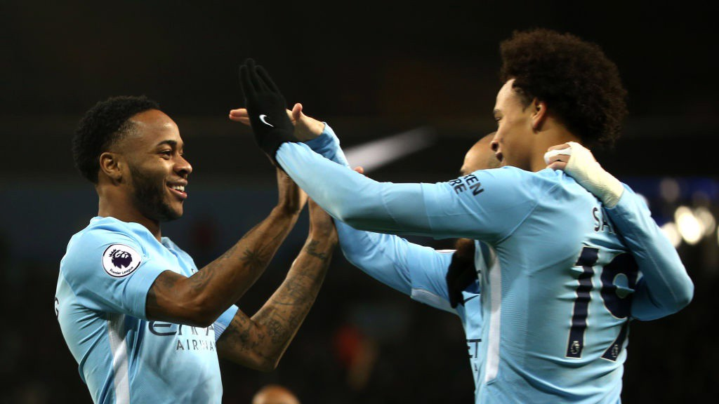 DREAM TEAM: Sané's cross, Sterling's finish.