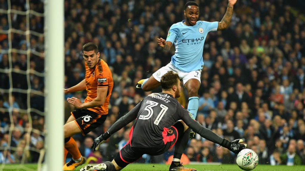ACTION STATIONS: Raheem Sterling comes close to breaking the deadlock