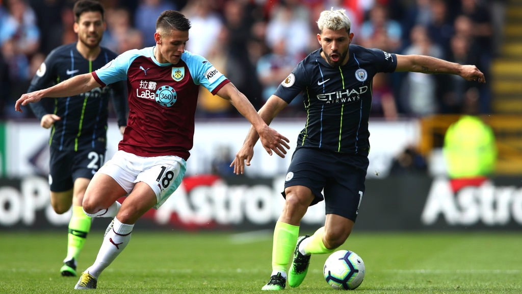 POWER SERG: A fierce 20-yard effort from Aguero was the closest City came to opening the scoring.