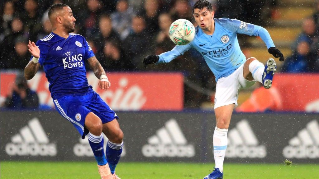 ON THE BALL: Brahim Diaz looks to get City on the front foot