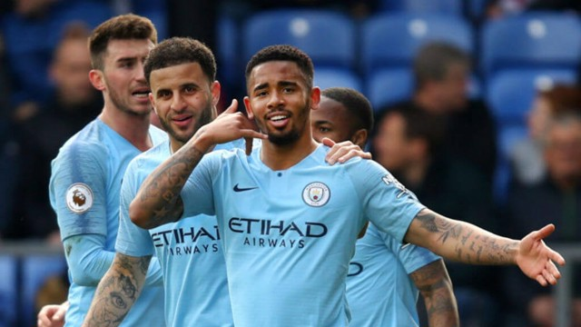 DONE DEAL: Gabriel Jesus seals all three points for City at Selhurst Park.