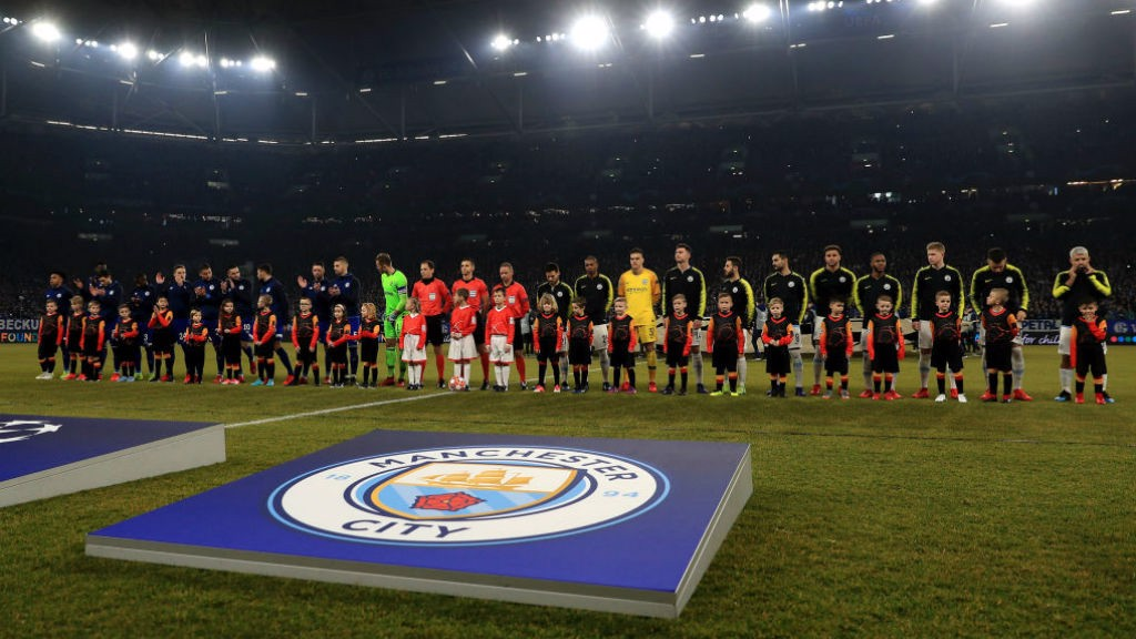 Manchester City line-up against Schalke in the UEFA Champions League