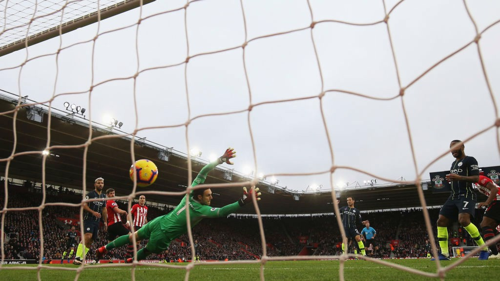 NET GAIN: David Silva's crisp strike ripples in the back of the Southampton goal
