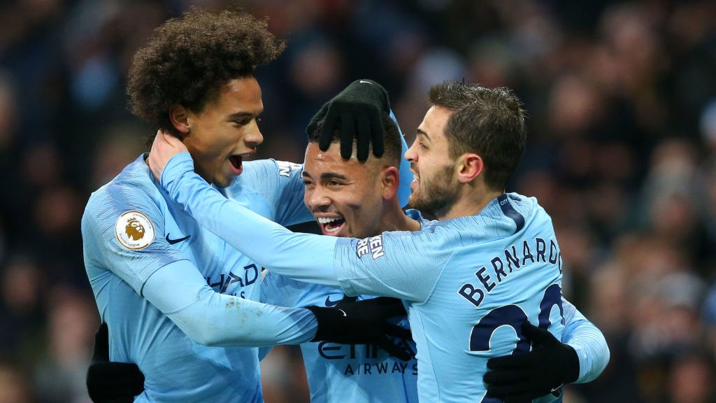 FAB GAB: Leroy Sane and Bernardo Silva are the first to salute Gabriel Jesus