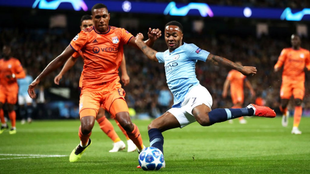 BY THE LEFT: Raheem Sterling fires in a cross