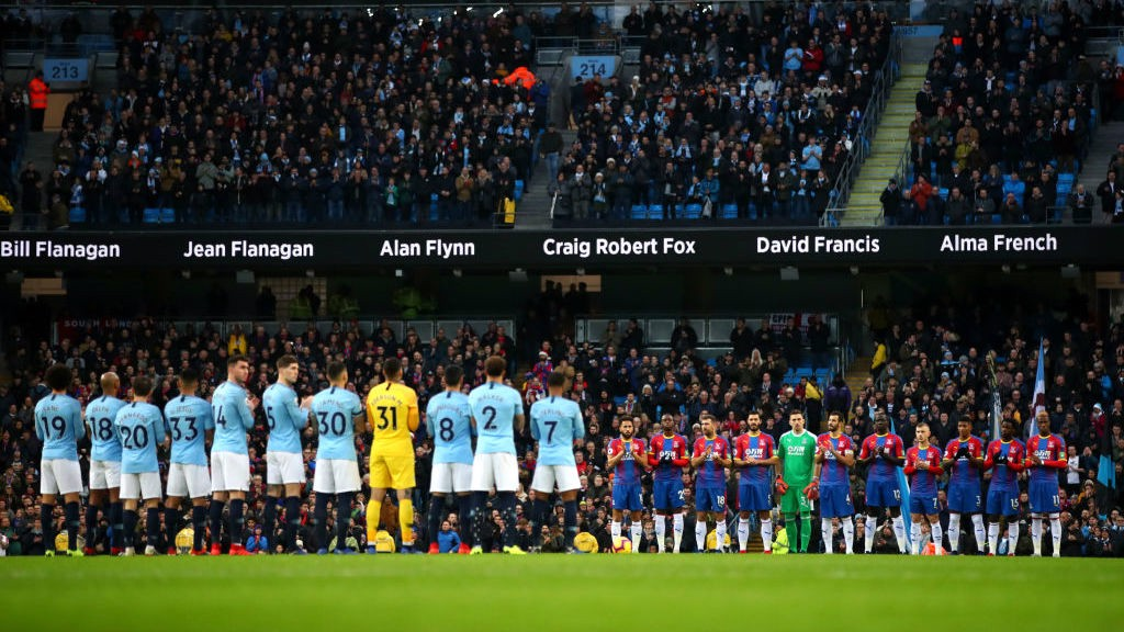 IN MEMORIAM: A minute's silence was help pre-match to remember all those connected to City who lost their lives in 2018