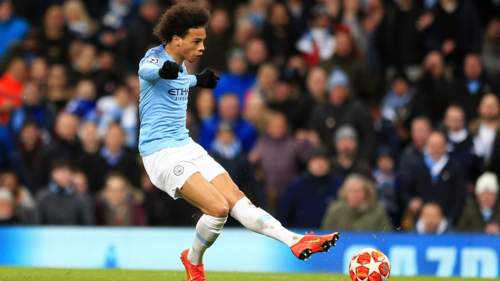 GERMAN EFFICIENCY: Leroy Sane scored against his former Club with a drilled finish