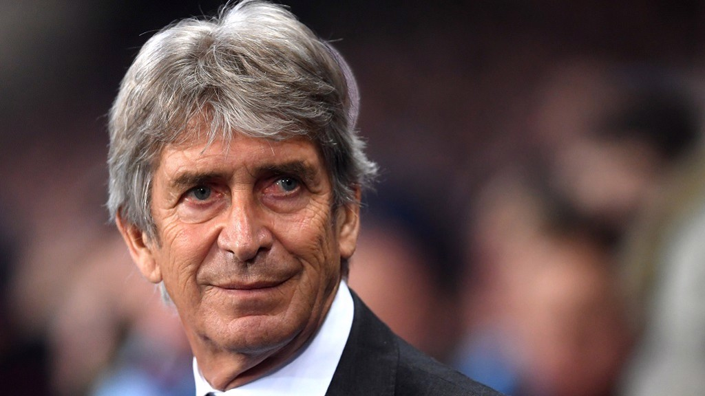 THIS CHARMING MAN: Manuel Pellegrini received a warm welcome on his return to the Etihad