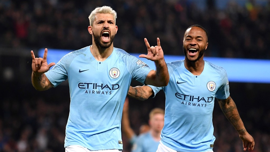 25 AND COUNTING: Sergio celebrates with Raheem