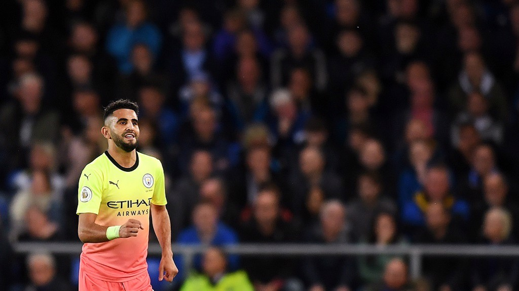 MAHREZ STUNNER: Riyad's goal capped a superb all-round display