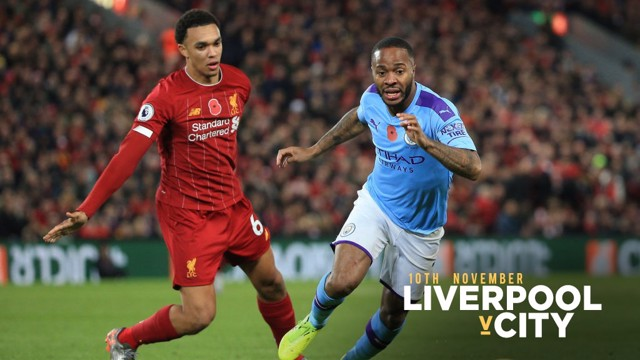 IN ACTION: Raheem Sterling gives chase against Liverpool.