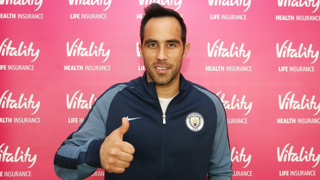 THUMBS UP: Claudio arrives