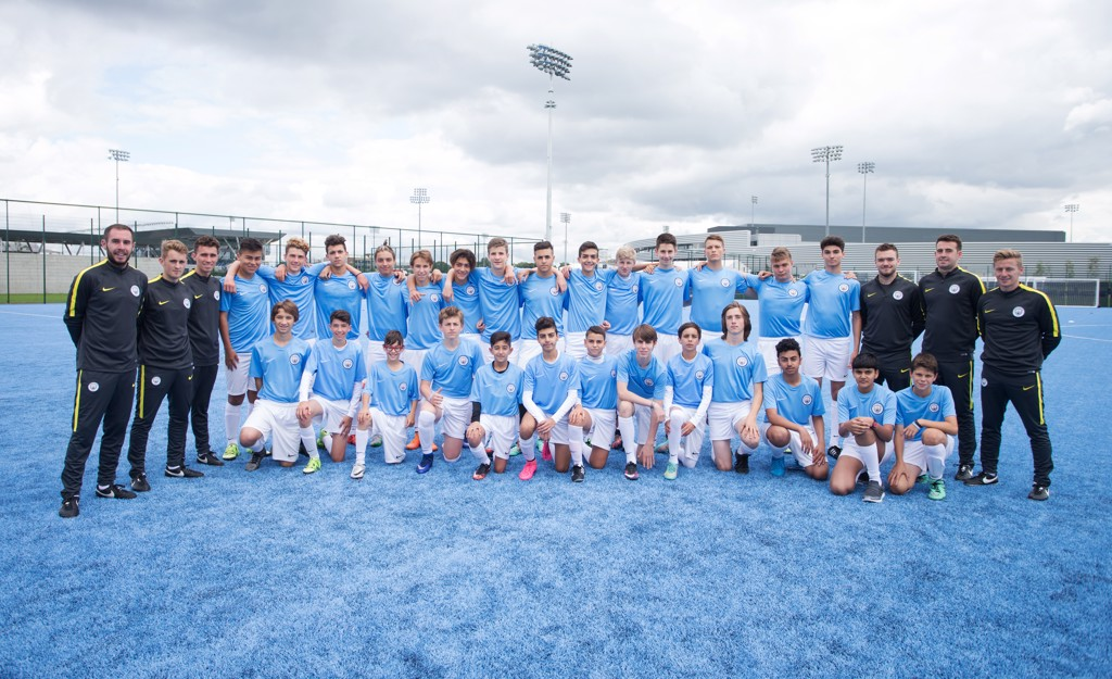 A proud group shot of the City Football Schools English Language Programme