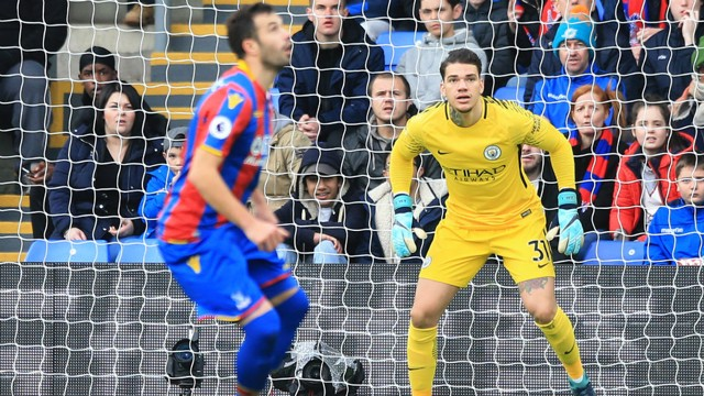 BATTLE: Ederson says he was pleased with City's display at Selhurst Park