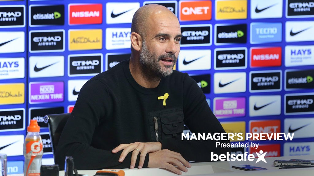 PREVIEW: Pep Guardiola addresses the media ahead of the Manchester derby.