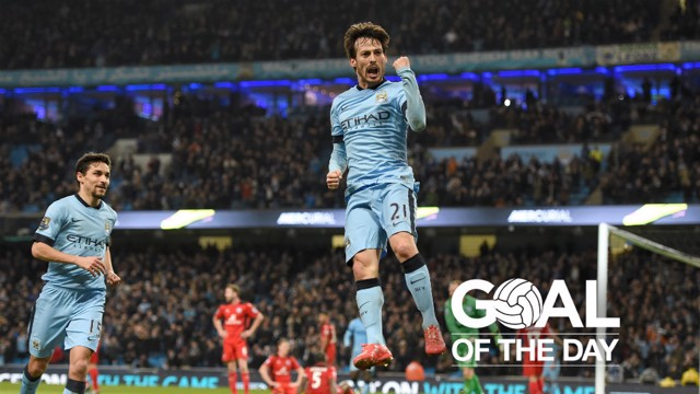 OPENER: El Mago scored the first goal in the 2-0 win over Leicester City in 2015.