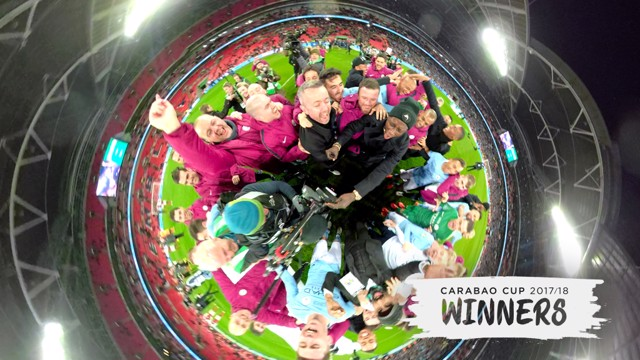 360 CAM: Watch City's post match Carabao Cup Final celebrations through the eyes of GoPro's Fusion camera!