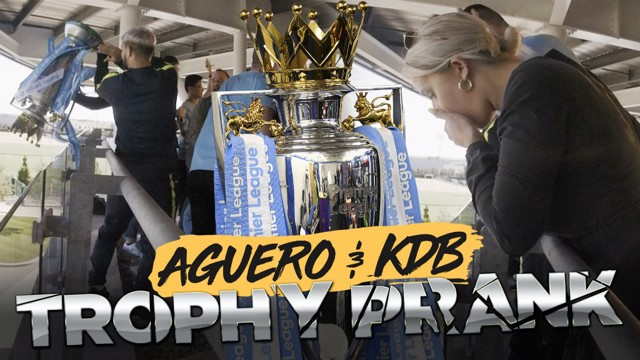 PRANKS: De Bruyne and Aguero prank some unsuspecting City fans!